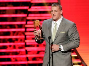 Watt deserved it last year, who's getting it this year?  Source: Houston Chronicle